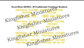 NI Confidential Phone Numbers - Yellow Type 1
